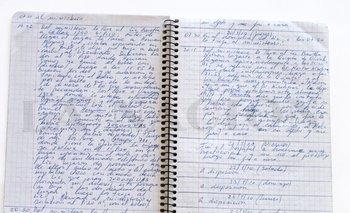 Uno de los cuadernos del ex chofer Oscar Centeno