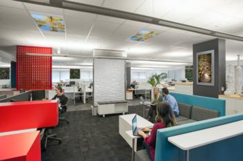Oficinas de Plantronics (California) son un claro ejemplo de lo que se viene para los espacios de trabajo