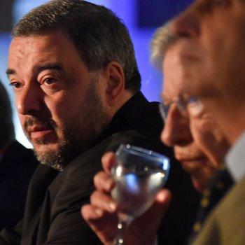 El presidente del BCU, Mario Bergara, con el ministro de Economía, Danilo Astori