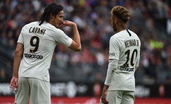Cavani y Neymar en el comienzo de la temporada 2018/19