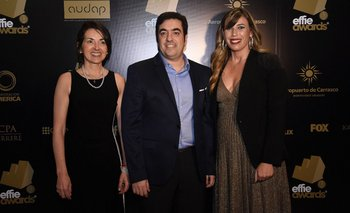 Silvana Saavedra, Marcelo Debernardi, y María José Caponi