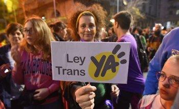 La Marcha de la Diversidad del viernes 28 tuvo como principal reivindicación la aprobación de la Ley Trans