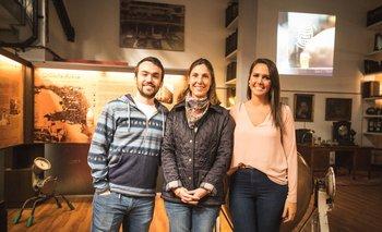 Agustin Ginel, Gabriela Cibils y Daniella Chocho
