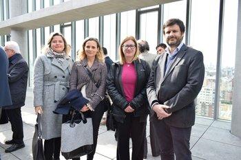 Andrea belollio, Gabriela Carvallo, Mariana Delgado y Ernesto iribar