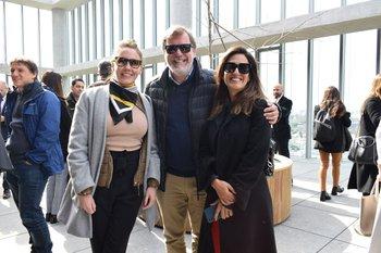 Clara Losada, Ricardo Lascano y Victoria Carrancio