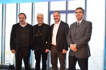 Jorge Rodríguez, Rafael Viñoly, Diego González Lambrechts y Álvaro Garcia