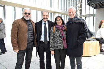 Roberto moraes, Ernesto Sposito, Ana Rivera y  Ernesto Kimelman
