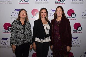 Andrea Belollio, Anabela Aldaz y Elisa Facio