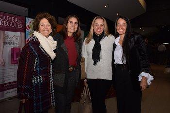 Cecilia ham, Margarita Carrau, Cris Fernanda y Leticia Caligaris
