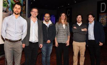 Fabián Varietti, Martin Avdolov, Nicolás Gamarra, Carolina Arigón, Daniel Gramoso y Yohán Ávila