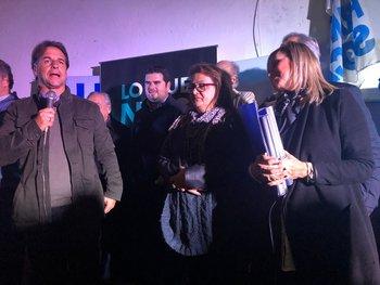 Lourdes Suárez participó de actos de la fórmula blanca en Paysandú