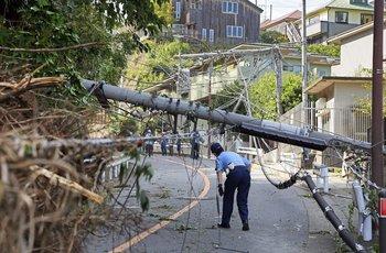 Destrozos del tifón Faxai en Japón