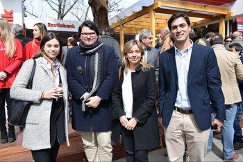 Inés Piñeyrua, Ignacio Olivera, Adriana Sola y Manuel Braña