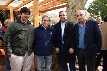 Juan Izmendi, Gabriel Aboy, Agustin Cravera y Aalejandro Nicolich