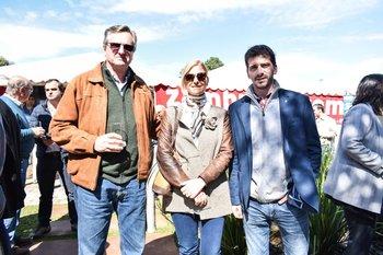 Jorge Fazio, Caroline Clark y Juan Ache