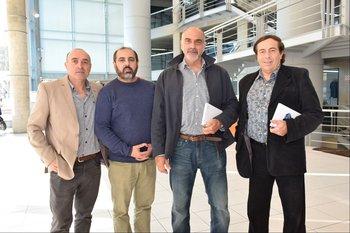 Daniel Jodal, Leonardo Esposito, Juan Carlos Medina y Eduardo Marrone