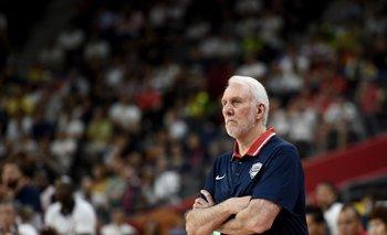 Gregg Popovich en la derrota de su equipo