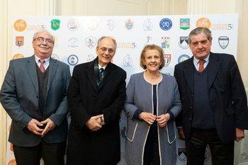 Jorge Bergalli, Carlos de Cores, Magela Damiani y  Alfredo Inciarte