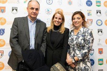 Ariel Cuadro, María Arteaga y Ana Laura Palombo