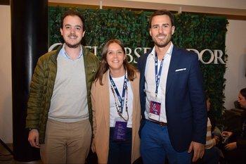 Sebastian Capucho, Belen Algorda y Pablo Simon