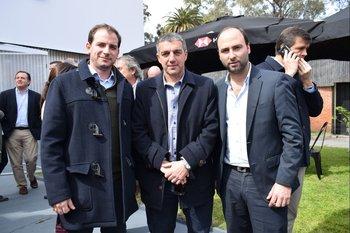 Juan Pablo Falcón, Carlos Chiarlone y Juan Pablo Risso