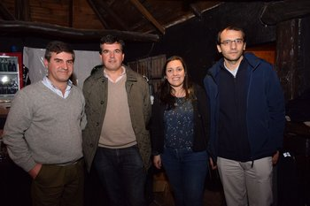 Luis Cardelino, Marcelo Bertola, Silvana Pereira y Juan Pablo Elias
