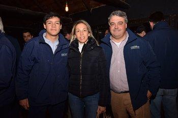 Nicolás Aicardi, María José Vanni y José Pedro Aicardi