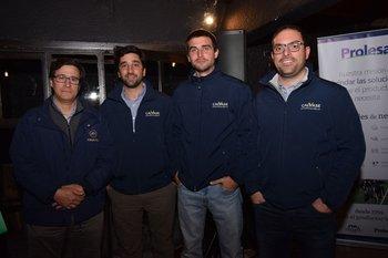 Santiago Raffo, Daniel Zuasnabar, Alfonso Inciarte e Ignacio Quintans