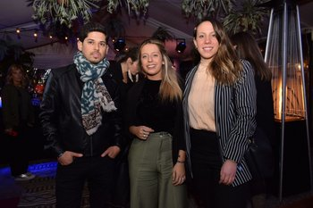 Mathias Morales, Valentina Fernández y Moira Mendes