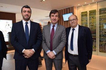Pablo Salgado, Alejandro Veiras y Manuel Pombo