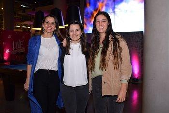 Jessica Sharamelo, Fernánda Bidegain y Federica Pesce