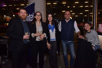 Roberto Bruzzone, Celina Reina, Natalia Paladino, Marcos y Sofia Capurro
