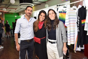 Diego Cuadro, Daniela Luongo-Akiki y Lia Cambre