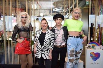Ixia Queen, Paola Dalto, Berni Towers y Miss Thony