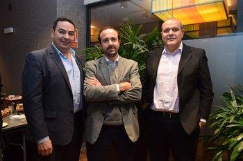Alejandro Camejo, Santiago Lema y Gerardo Manggiarotti