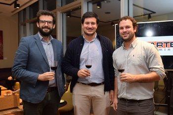 Cristian Tejera, Joaquin Vaz y Bruno Pecorari
