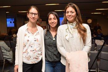 Eugenia García, Mariana Vlaeminch y Carina Ferreira