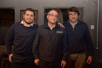Francisco Marquez, Horacio Costa y Gonzalo Barthaburu