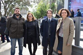 Francisco Fernández, Tania Almeida, Diego Barisione y Eliana Estrugo
