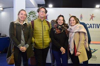 Faustina Martínez, Miguel García, Karina Fortete y María Eugenia González