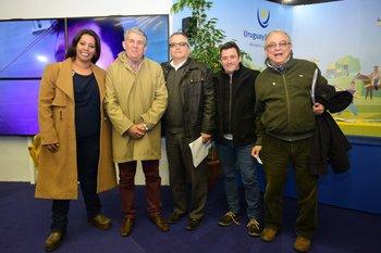 María noel Rodríguez, José Luis Perazza, Eduardo Jañez, Daniel Fernández y Luis Borsari