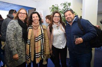 Alejandra Cabrera, Natalia Rehermann, Paula Álvez y Luis Barragan