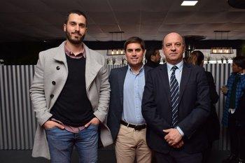 Federico Cherro, Sebastian Mauri y Jorge Rapela