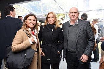Fernánda Duter, Cecilia Maccio y Marcelo Debat
