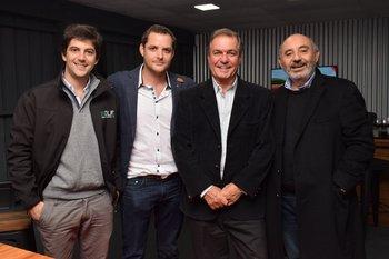 Martin Abreu, Fernándo Rocha, Gerardo Zambrano y Alberto Pino