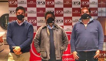 Alejandro Zambrano, Martín Sarries y Germán Sapelli.