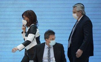 Cristina Fernández, Sergio Massa y Alberto Fernández