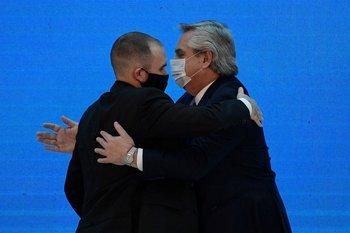 El ministro de Economía argentino, Martín Guzmán, y el presidente Alberto Fernández