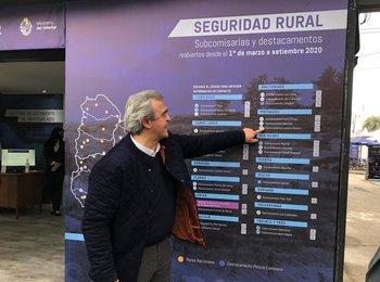 Jorge Larrañaga en el stand del Ministerio del Interior en la última Expo Prado.