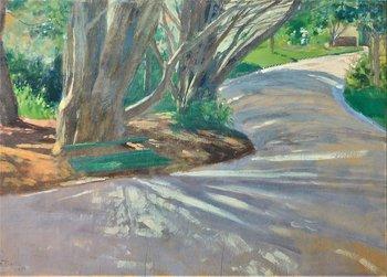 El camino, Pedro Figari, óleo sobre tabla